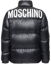 Moschino ナイロンダウンジャケット - ブラック