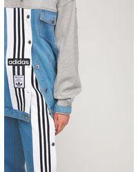 adidas Originals Куртка С Капюшоном Из Хлопкового Деним И Джерси - Синий