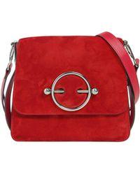 JW Anderson - Disc Bag Suede Shoulder Bag - Lyst