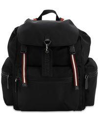 Bally - Nylon Backpack W/ Stripes Details - Lyst