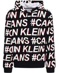 Calvin Klein - コットンジャージースウェットフーディ - Lyst