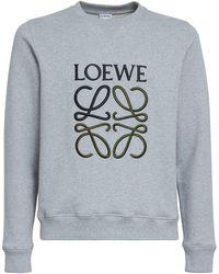 Loewe Anagram コットンスウェットシャツ - グレー