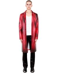 CALVIN KLEIN 205W39NYC - Painted Shiny Leather Tailored Coat - Lyst