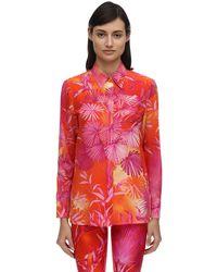 Versace Jungle Print Crepe De Chine Shirt - Красный