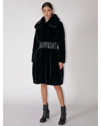 Karl Lagerfeld Faux Fur Coat - Black