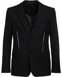 Alexander McQueen Куртка Из Японского Шерстяного Габардина - Черный