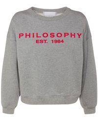 Philosophy Di Lorenzo Serafini Хлопковый Свитшот С Принтом Логотипа - Серый