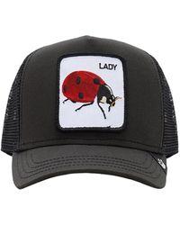 Goorin Bros Lady Bug Patch Baseball Hat - Black