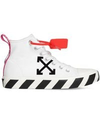 Off-White c/o Virgil Abloh High-Top-Sneakers mit Patch - Weiß