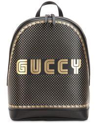 "Gucci - Sac À Dos ""Guccy"" En Cuir Imprimé - Lyst"
