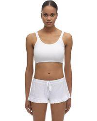 Skin Clio Organic Pima Cotton Crop Top - White