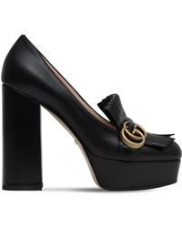 0d8a0b69e Gucci - 120mm Marmont Fringed Leather Pumps - Lyst