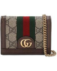 Gucci Ophidia Kartenetui mit GG - Braun