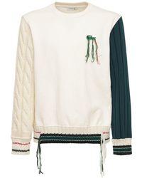 Lacoste コットン&ウールニットスウェットシャツ - ホワイト