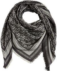 Versace シルク&ウールスカーフ - マルチカラー