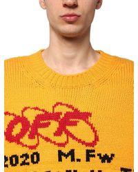 Off-White c/o Virgil Abloh Sweater Aus Wollmischstrick - Gelb