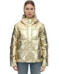 Calvin Klein Nylon Puffer Jacket - Metallic