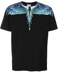 Marcelo Burlon コットンジャージーtシャツ - ブラック