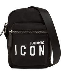DSquared² Icon ナイロンクロスボディバッグ - ブラック