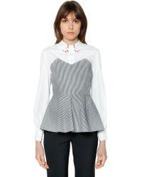 Vivetta - Striped & Solid Cotton Poplin Shirt - Lyst