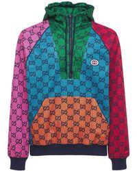 Gucci Hoodie Aus Gg-technojacquard - Mehrfarbig