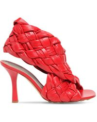 Bottega Veneta Босоножки Bv Board - Красный
