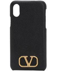 Valentino Garavani Valentino Garavani Iphone X/xs グレインレザーケース - ブラック