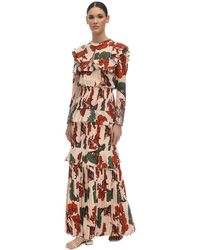 Johanna Ortiz Embellished Crepe De Chine Dress - Multicolour