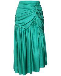 Rochas シルクツイルスカート - グリーン