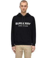 Burberry Sudadera de algodón con capucha - Negro