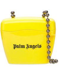 "Palm Angels Mini Schultertasche ""padlock"" - Gelb"