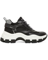 Prada Chunky-sneakers Aus Nylon - Schwarz