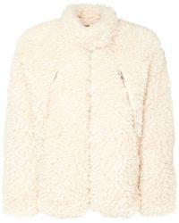 MM6 by Maison Martin Margiela Faux Shearling Short Jacket - White