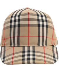 Burberry Basecap mit Vintage Check-Muster und Logodetail - Mehrfarbig