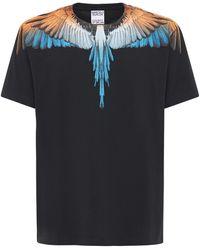 Marcelo Burlon Wings コットンジャージーtシャツ - ブラック