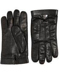 Prada - Nappa Leather Gloves - Lyst