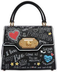 Dolce & Gabbana - Sac à Main En Cuir Welcome Medium - Noir ixDtrR3V