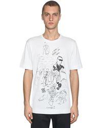 Fendi Camiseta karl kollage estampada - Blanco