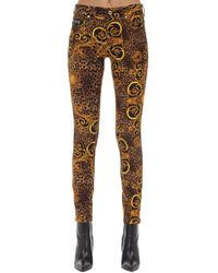 Versace Jeans Couture Archive Print スキニージーンズ - マルチカラー