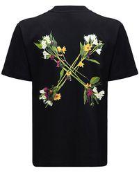 Off-White c/o Virgil Abloh T-shirt Aus Jersey Mit Pfeildruck - Schwarz