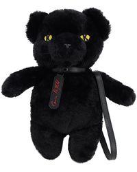 Karl Lagerfeld Karl X Carine Faux Fur Panther Bag - Black