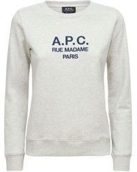 A.P.C. Sweat Tina ジャージースウェットシャツ - グレー