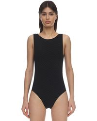 Eres Flanelle Texture One Piece Swimsuit - Black