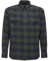 Tom Ford Freizeithemd Aus Baumwolle Mit Karos - Blau