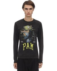 P.a.m. Perks And Mini On Your Mind Unisex L/s Cotton T-shirt - Black