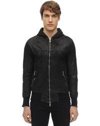 Giorgio Brato Hooded Leather Jacket - Black