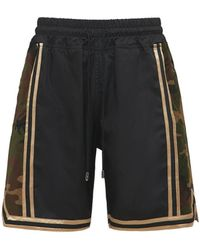 Just Don Shorts In Taffetà Camouflage - Nero
