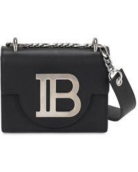 Balmain B-bag 18 レザーショルダーバッグ - ブラック
