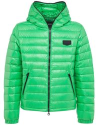 Duvetica Tolando Hooded Shiny Nylon Down Jacket - Green