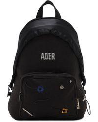ADER error Ader Print Acrylic & Wool Backpack - Black